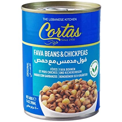 Cortas Fava Beans and chickpeas 14 oz.