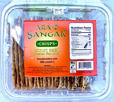 Sangak Crackers Crisps Toasted Flat Bread