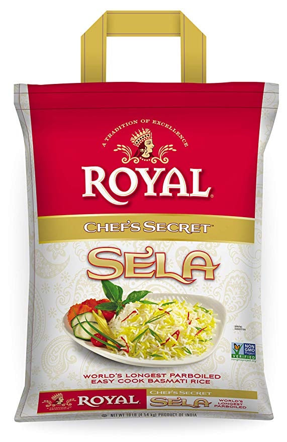 Royal Chef's Secret Sela Basmati Rice - 10 lb.