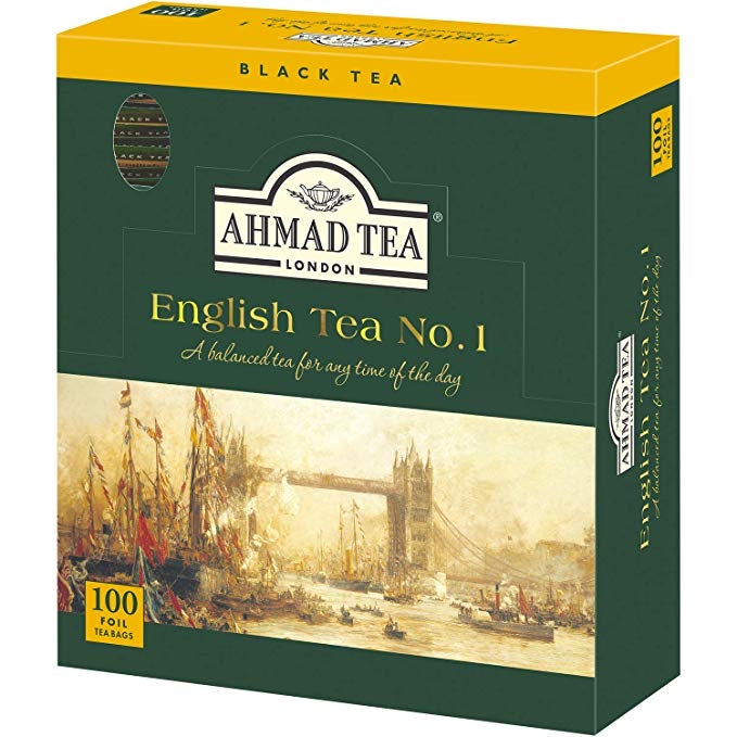 Ahmad English Tea No. 1 - 100 enveloped bags