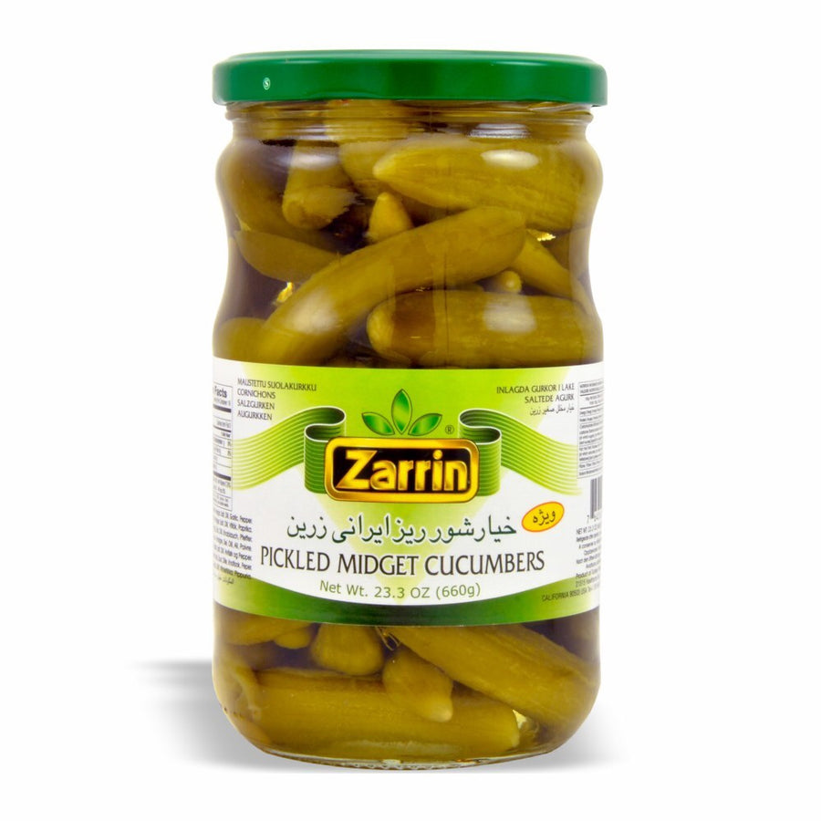 Zarrin Pickled Midget Cucumbers Cornichons 23.3 OZ