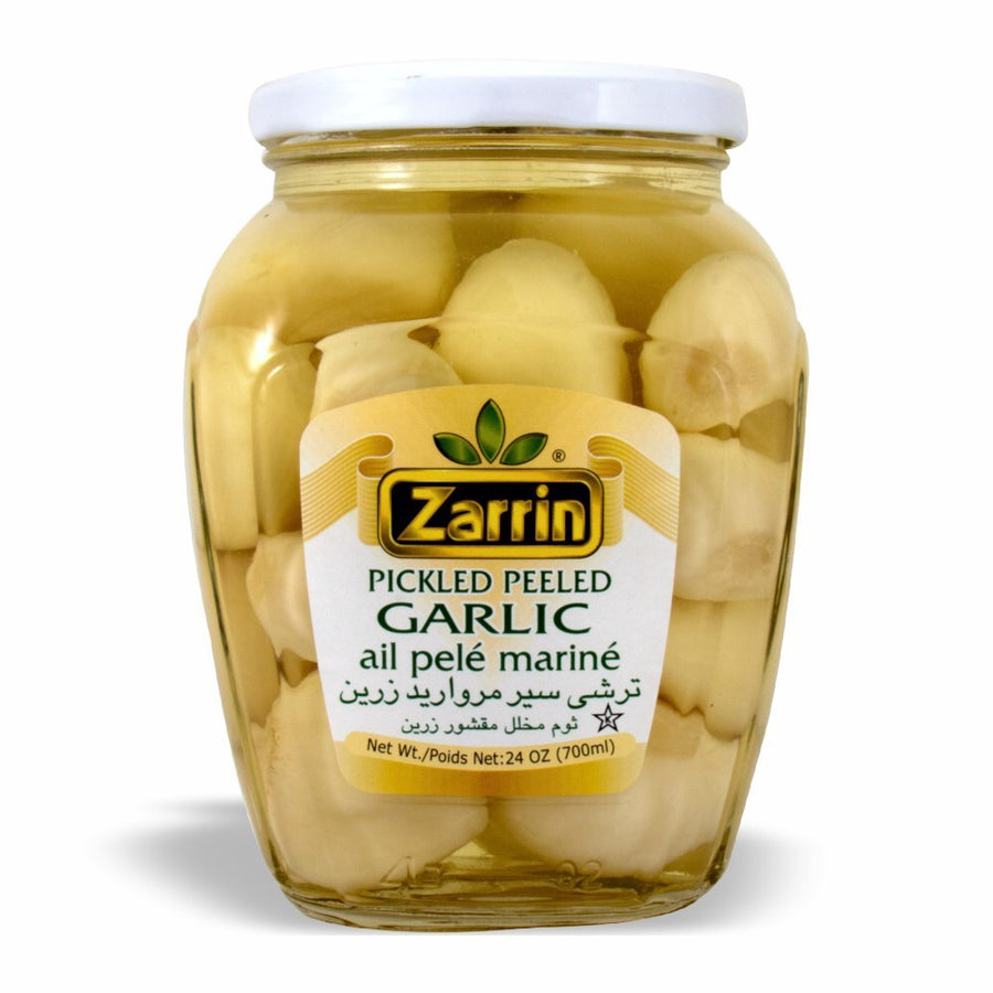 Zarrin Pickled Peeled Garlic, Ail Pele Marine 24 OZ