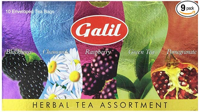 Galil Herbal Tea Assortment 10 Tea Bags