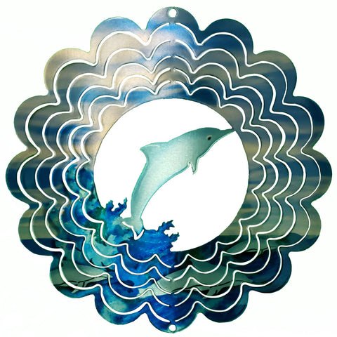 Kaleidoscope Dolphin Wind Spinner