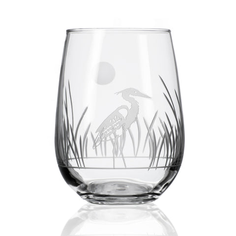 Heron Stemless Wine Tumbler - Set of 4