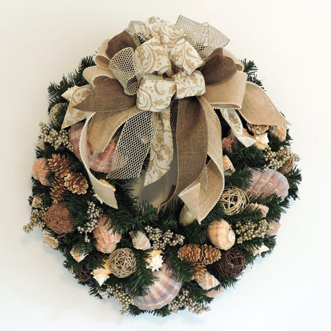 "24"" Holiday Wreath with Natural and Pine Cones WH-5"