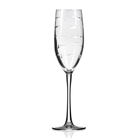School of Fish Champagne Flute - Set of 2, 4, 12