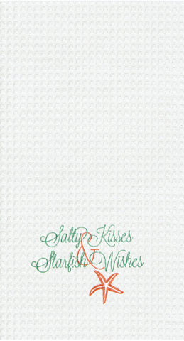 Salty Kisses & Starfish Wishes  - Kitchen Towels, Set of 2