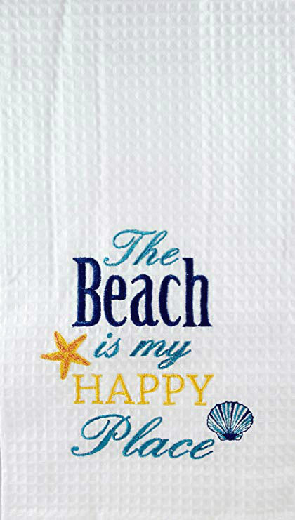 The Beach is My Happy Place - Kitchen Towels, Set of 2