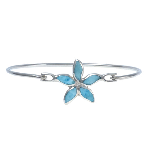 Larimar Bangle Bracelet - Starfish Design