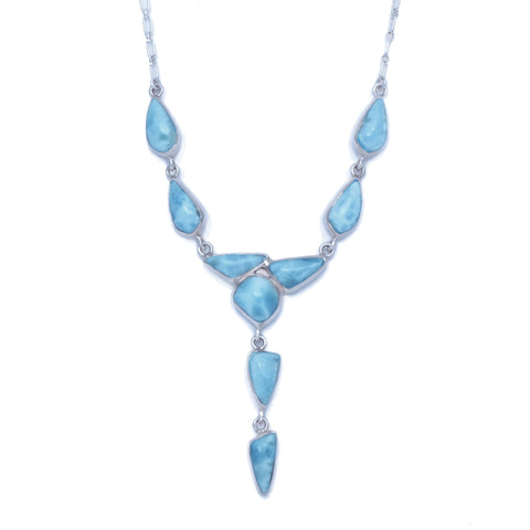 Larimar 9 Stone Necklace