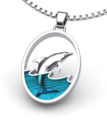 Leaping Dolphin Necklace