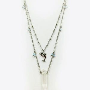 Dolphin Double Strand Necklace