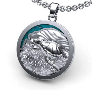 Sea Turtle Nesting on the Beach Necklace