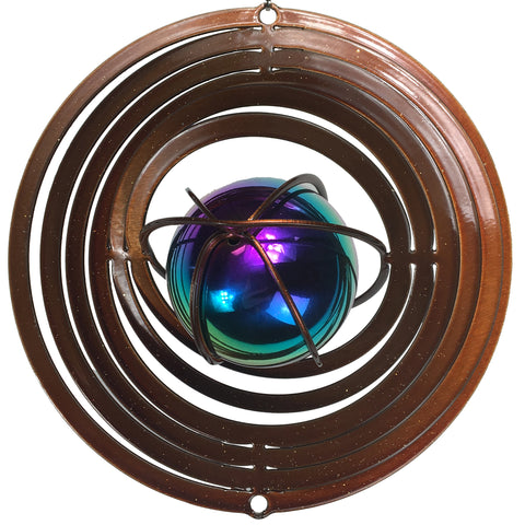 Small Wind Spinner with Gazing Ball - Copper