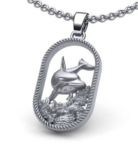 Swimming Dolphin Necklace