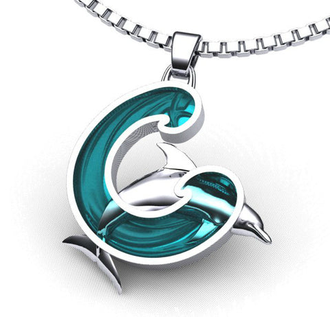 Dolphin Wave of Hope Necklace