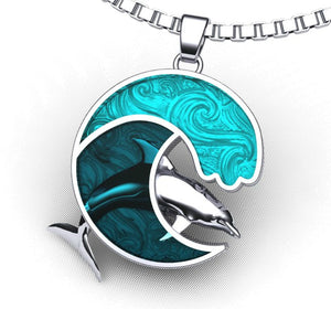 Dolphin Wave of Love Necklace