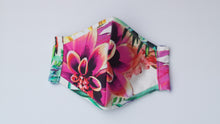 Load image into Gallery viewer, Vapor Floral Print Fabric Mask