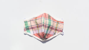 Retro Plaid Print Mask