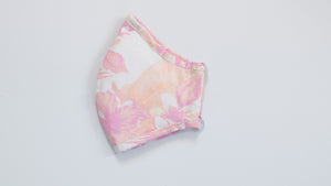 Faded Floral Print Fabric Mask