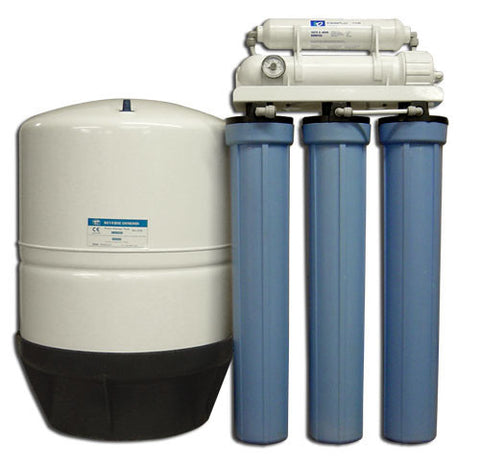Commercial Lite-Reverse Osmosis System for 300 Gallons Per Day w/14 gallon storage tank