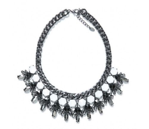 Chic Gunmetal necklace statement - Crystalline
