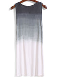 Round Neck Ombre Shift Dress - Crystalline