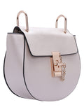 White Twist Lock Shoulder Bag - Crystalline