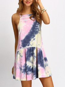 Multicolor Halter Neck Ruffle Dress - Crystalline
