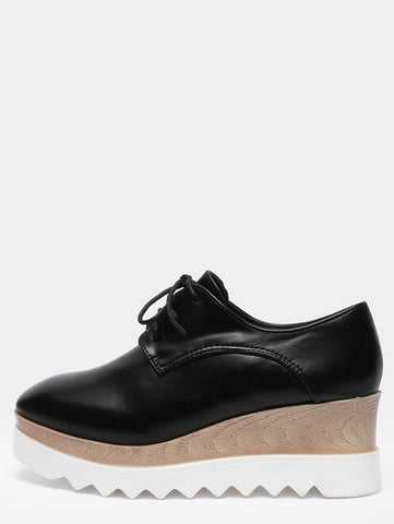 Black Casual PU Flats - Crystalline