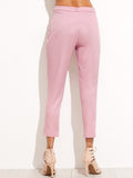 Pink Crop Skinny Pants - Crystalline