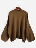 Khaki Crew Neck Loose Sweater