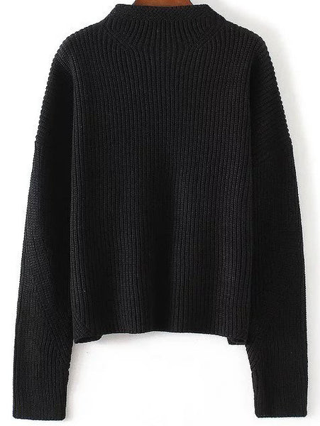 Black Crew Neck Knitwear