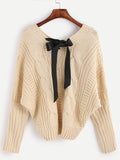 Fall Fashion Apricot Batwing Long Sleeve Pullovers Sweater - Crystalline