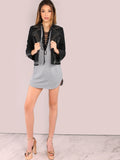 Grey Strappy Lace Up Mini Dress