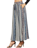 Multicolor Tribal Print Fringe Skirt