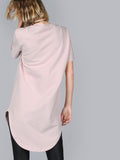 Pink Curved Hem Tee Dress - Crystalline