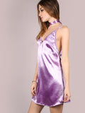 Purple Velvet Cami Dress