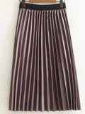 Purple Pleated Skirt