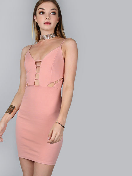 Pink Peakaboo Bust Mini Dress