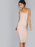 Taupe Formfitting Dress