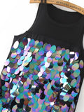 Black Sequin Sleeveless Dress