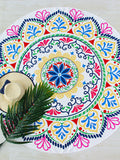 Multicolor Round Floral Print Beach Blanket