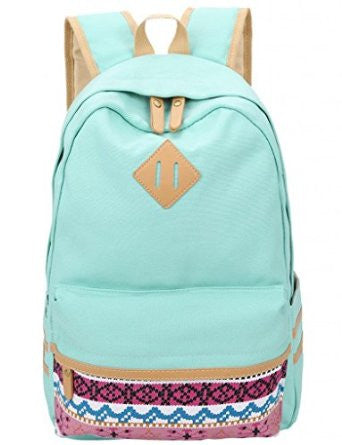 Leaper Canvas Backpacks School Backpack - Crystalline