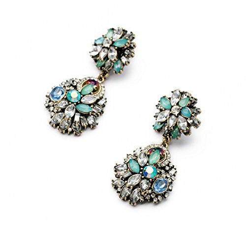 Daisy Jewelry Vintage Multi-bead Fashion Earrings - Crystalline