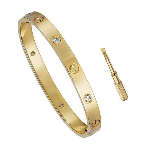 Nail Bracelet & Screw Bracelet - Crystalline