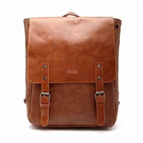 Leather-Like Vintage Women's Backpack School Bag - Crystalline