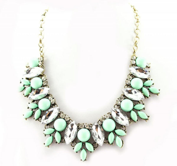 Bib Statement Fashion Necklace Turquoise - Crystalline