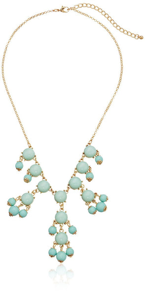 Small Cabochon Bubble Statement Necklace - Crystalline